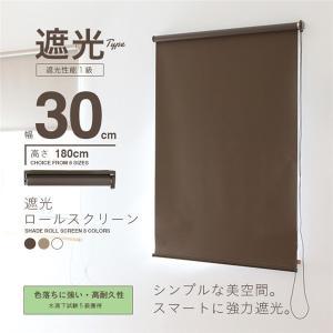 ロールスクリーン 遮光 ロールカーテン 遮光 幅30cm 簡単取り付け ロールカーテン ロールブラインド 遮光率99.99% 日用品|vastmart