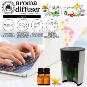 【商品説明】 コンパクトタイプのアロマディフューザーです。 付属のアロマグラスに市販のアロマオイルを...