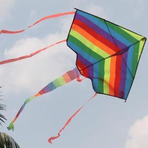 凧 微風で揚がる凧 カラフルカイト 1.2M ガンガン上昇!楽しいカイト