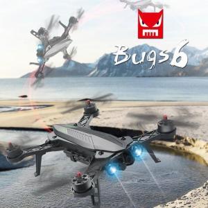ドローン カメラ付き モニター付き 720P 空撮 ラジコン FPV MJX Bugs 6 ブラシレスモーター 12分飛行時間 低電圧警告 LED付き 日本語取扱説明書付 ブラック|vastmart
