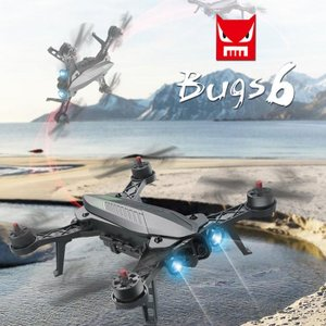 ドローン カメラ付き ラジコン 空撮 2.4GHz技術 低電圧警告 FPV MJX b6 Bugs 6 独立ESCモーターロック保護 LED付き VRゴーグル ブラック|vastmart