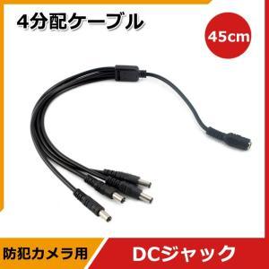 防犯カメラ用 ACアダプターポート 4分配ケーブル 4分岐ケーブル 1 to 4|vastmart