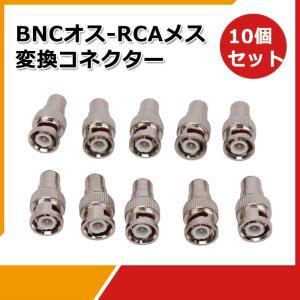 BNCオス-RCAメス 変換コネクター RCAプラグをBNCプラグに!!BNCP-RCAJ変換コネクタ vastmart
