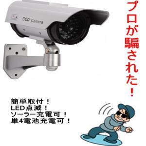 ダミーカメラ 防犯カメラ ダミー 屋外用 ソーラー LED点滅|vastmart