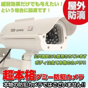 ダミー防犯カメラ 監視カメラ 防犯 ダミーカメラ ソーラー LED点滅 屋外|vastmart