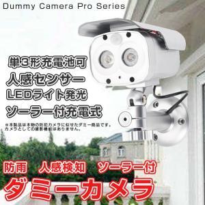 ダミーカメラ  屋外用 防犯カメラ ダミーソーラーカメラ LED点滅 人感センサー 防雨|vastmart