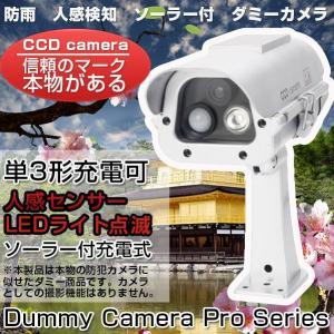 ダミーカメラ 防犯カメラ ダミー 人感センサー 屋外用 ソーラー LED点滅 防雨|vastmart