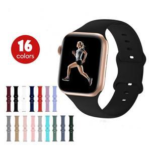 Apple Watch バンド シリコン おしゃれ 41mm 45mm 44mm 42 40 38 mm アップルウォッチ スポーツ バンド series SE 7 6 5 4 3 2 1 交換バンド 互換品|vastmart