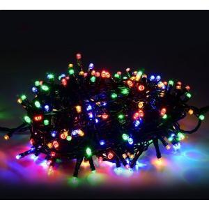 イルミネーション LEDライト ソーラー 充電式 LED  イルミネーション LED ソーラー 100球 屋外 クリスマス 飾り 電飾 ミックス 照明器具|vastmart
