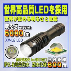 led 懐中電灯  強力 モードメモリ 無段階調光 小型 懐中電灯 最強|vastmart