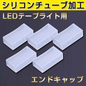 シリコンチューブ 防水加工LEDテープライト用 エンドキャップ 5050SMD LEDテープ シリコンチューブ型用 5個 2列タイプ用 vastmart