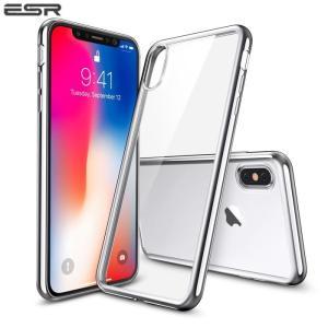 iPhoneX ケース iPhone X カバー スマホケース シリコン クリア ESR TPU シンプル キラキラ 傷防止 2017年版専用 シルバー ローズゴールド ブラック|vastmart