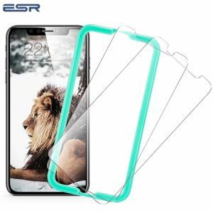 iPhone 保護フィルム 強化ガラス iPhoneX 専用 ガラスフィルム ESR 飛散防止 指紋防止 ライフタイム保証付き 硬度9H 高光透過率 2枚セット|vastmart