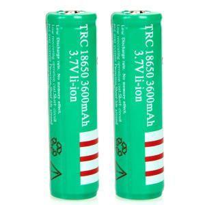 18650充電池 保護付き 18650 リチウムイオン 3600mAh充電池 2本セット
