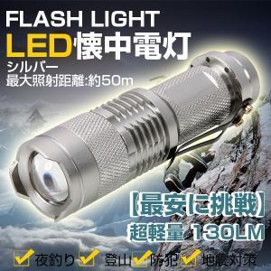特価!懐中電灯 LED 懐中電灯 小型 超軽量 ハンディーライト 強力 130LM 全2色|vastmart
