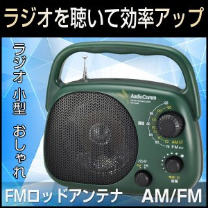 ラジオ 小型 ラジオ おしゃれ 携帯ラジオ AM/FM スピ...