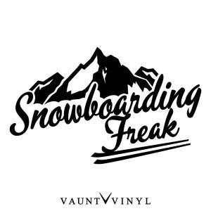 SNOW BOARDING FREAK ステッカー