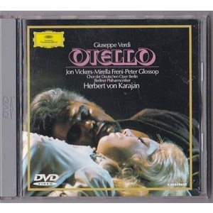 ■DVD DG ヴェルディ:歌劇 オテロ (全曲) *カラヤン/ヴィッカーズ/フレーニ/ベルリン・ドイツ・オペラ合唱団 (収録時間142分)■