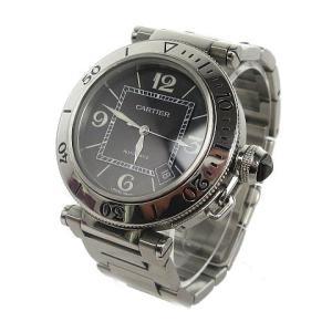 カルティエ Cartier 美品 パシャ シータイマー 腕時計 自動巻き オートマ 40.5mm SS シルバー W31077M7 ☆AA★ メンズ【中古】【ベクトル 古着】