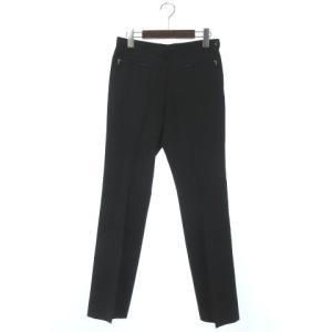 アニエスベー agnes b. スラックス パンツ ジップ 黒 ブラック 38 レディース【中古】【ベクトル 古着】