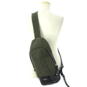 ディーゼル DIESEL ボディ バッグ ショルダー レザー 切替 緑 黒 鞄 メンズ【中古】【ベクトル 古着】|vectorpremium