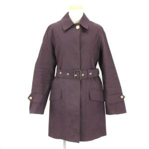 【中古】マッキントッシュ MACKINTOSH コート ステンカラー ミドル ベルト コットン 紫 ...