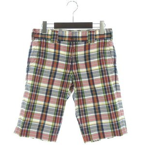 ディッキーズ Dickies ショートパンツ ショーツ マドラス チェック 赤 紺 28 メンズ 【...