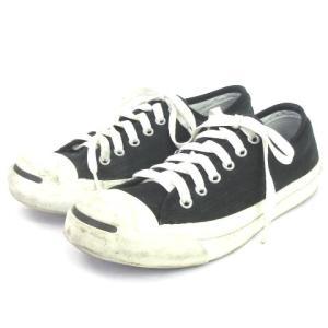 【中古】コンバース CONVERSE スニーカー ジャックパーセル JACK PURCELL 1R194 黒 白 ブラック ホワイト 24 シューズ 靴 レディース 【ベクトル 古着】|vectorpremium