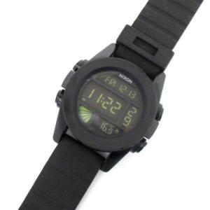 【中古】ニクソン NIXON デジタル 腕時計 THE UNIT カスタムデジタルムーブメント 黒 ...