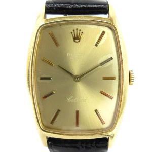 【中古】ロレックス ROLEX CELLINI チェリー二 腕時計 手巻き トノー型  金 ゴールド K18 ☆AA★ レディース 【ベクトル 古着】|vectorpremium