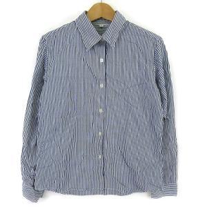 無印良品 良品計画 シャツ ストライプシャツ ストライプ カジュアルシャツ レギュラーカラー 長袖 ...