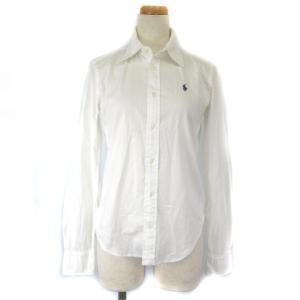 【中古】ラルフローレン RALPH LAUREN シャツ ブラウス ワンポイント 長袖 白 ホワイト 7 IBS88 レディース 【ベクトル 古着】
