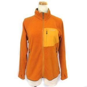 【中古】モンベル Montbell フリースジャケット ジップ ラグランスリーブ ポケット オレンジ...
