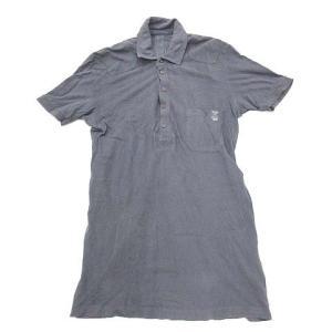 【中古】ディーゼル DIESEL ポロシャツ 半袖 鹿の子 コットン 紺 ネイビー S ■CA7 0...