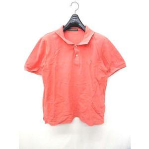 ニューヨーカー NEWYORKER ポロシャツ 半袖 ロゴ オレンジ 0213 メンズ【中古】【ベクトル 古着】