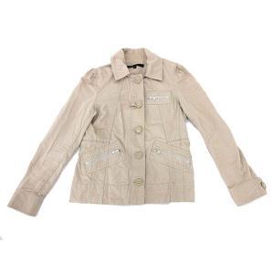 マークジェイコブス MARC JACOBS ジャケット ステンカラー コットン 長袖 4 Mサイズ ベージュ レディース【中古】【ベクトル 古着】