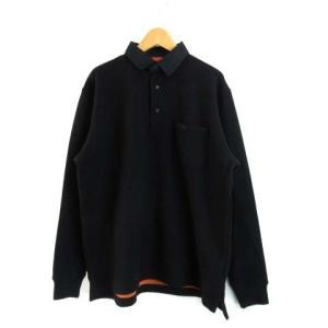 ディーシーシューズ DC SHOES DCBA ポロシャツ ニット 長袖 ウール 黒 ブラック S 0315 メンズ【中古】【ベクトル 古着】|vectorpremium