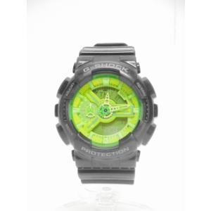 カシオジーショック CASIO G-SHOCK ハイパーカラーズ 腕時計 クオーツ アナデジ 黒 黄緑 GA-110B-1A3JF Hyper Colors/△I45 メンズ【中古】【ベクトル 古着】 vectorpremium