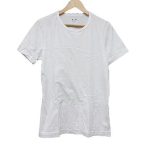 【中古】スリードッツ three dots Tシャツ カットソー 半袖 無地 M ホワイト 白/2 ...