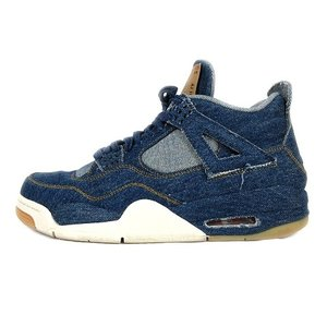 【中古】NIKE × LEVI'S AIR JORDAN 4 RETRO LEVIS DENIM N...