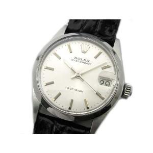 【中古】ロレックス ROLEX 1967年 アンティーク オイスターデイト プレシジョン 手巻き 腕時計 6466 シルバー文字盤 ボーイズ 【ベクトル 古着】|vectorpremium