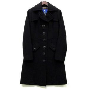 【中古】バーバリーブルーレーベル BURBERRY BLUE LABEL トレンチ ウール コート ...