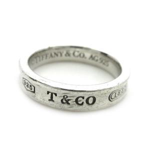 【中古】ティファニー TIFFANY & CO. 1837 ナロー リング 指輪 SV925 シルバ...