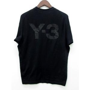 【中古】ワイスリー Y-3 ヨウジヤマモト アディダス 2019AW バックロゴ Tシャツ 半袖 U...
