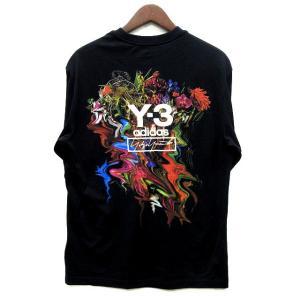 【中古】ワイスリー Y-3 ヨウジヤマモト アディダス 19AW フラワーアート プリント Tシャツ...