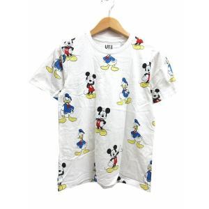ユニクロ UNIQLO UT ディズニー Tシャツ カットソー 半袖 クルーネック ミッキーマウス ドナルドダック プリント 白 S レディース【中古】【ベクトル 古着】|vectorpremium
