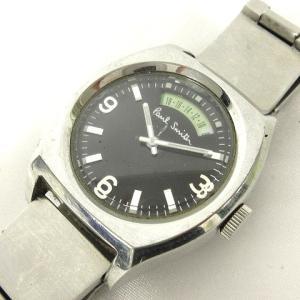 ポールスミス PAUL SMITH ジャンク 腕時計 クオーツ 2針 F325 シルバー ブラック ※SK 170210 メンズ【中古】【ベクトル 古着】 vectorpremium