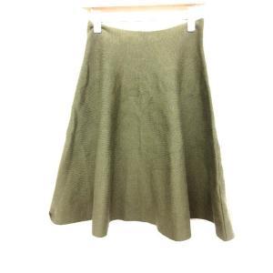 神戸レタス スカート フレア 緑 ※AI 180418 レディース【中古】【ベクトル 古着】