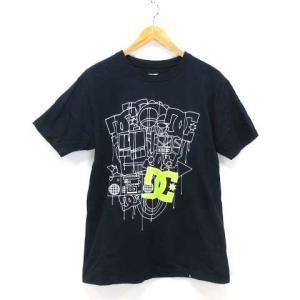 ディーシーシューズ DC SHOES Tシャツ プルオーバー カットソー 半袖 ロゴ イラスト 紺  L ※ET190401 メンズ 【中古】【ベクト|vectorpremium