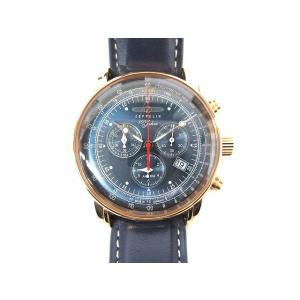 ツェッペリン ZEPPELIN 腕時計 100周年記念モデル クロノグラフ クォーツ 8682-3 ...